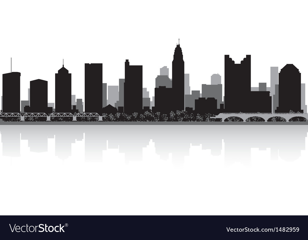 Columbus usa city skyline silhouette vector | Price: 1 Credit (USD $1)