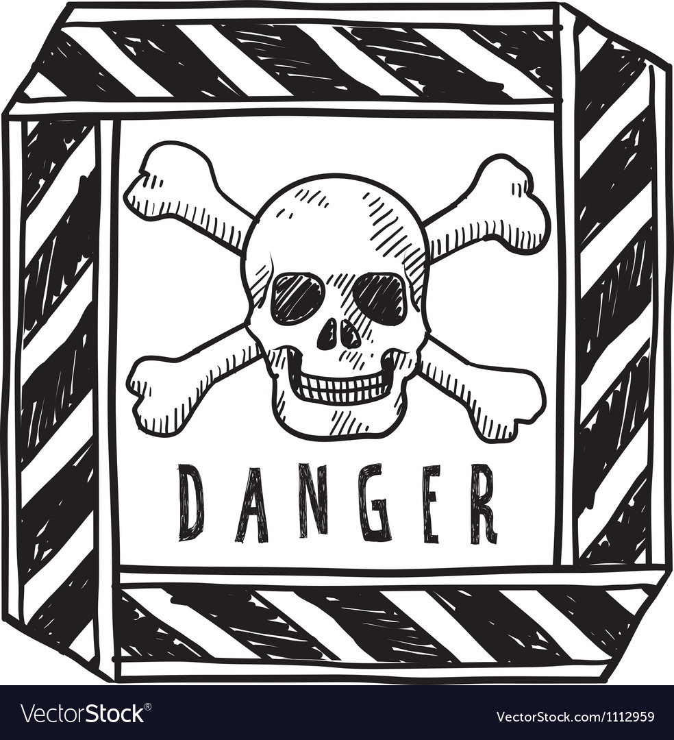 Doodle danger poison vector | Price: 1 Credit (USD $1)