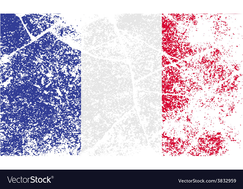 Flag of france with old texture vector | Price: 1 Credit (USD $1)