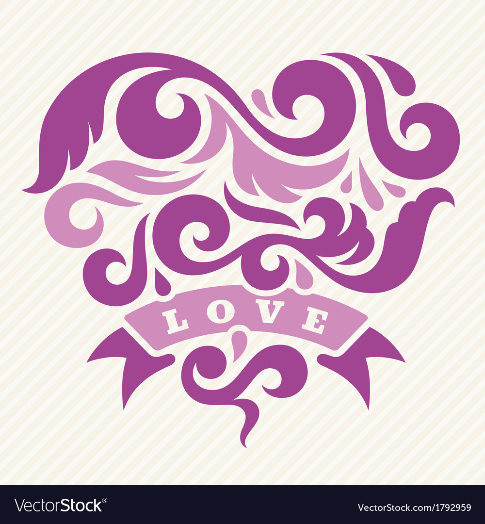 Heart and love vector | Price: 1 Credit (USD $1)