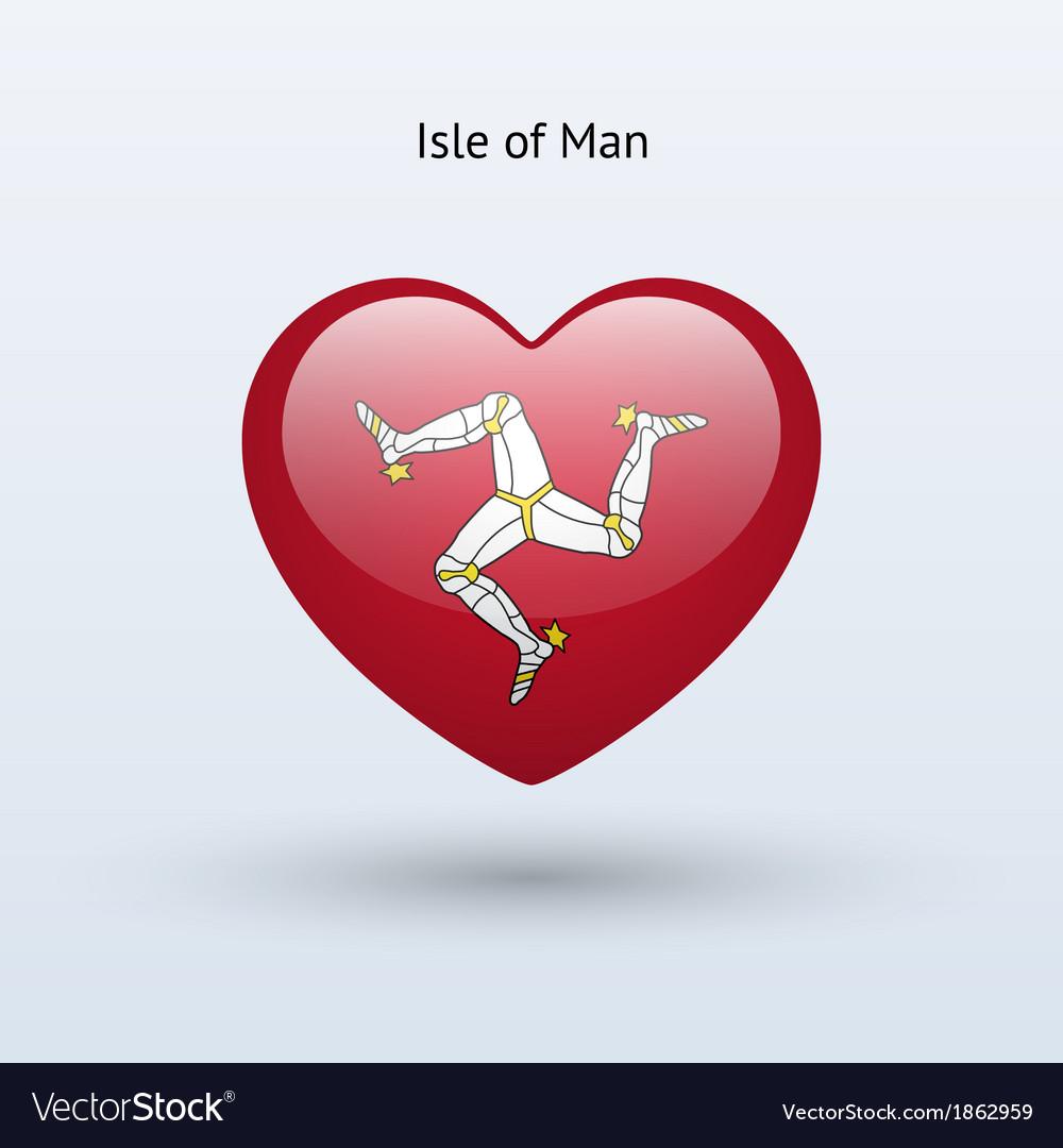 Love isle of man symbol heart flag icon vector | Price: 1 Credit (USD $1)