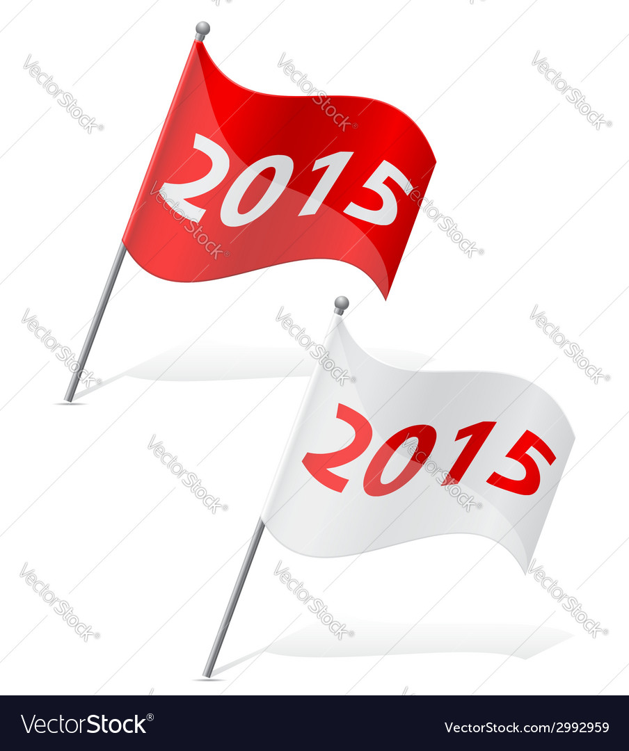 New year flag vector | Price: 1 Credit (USD $1)