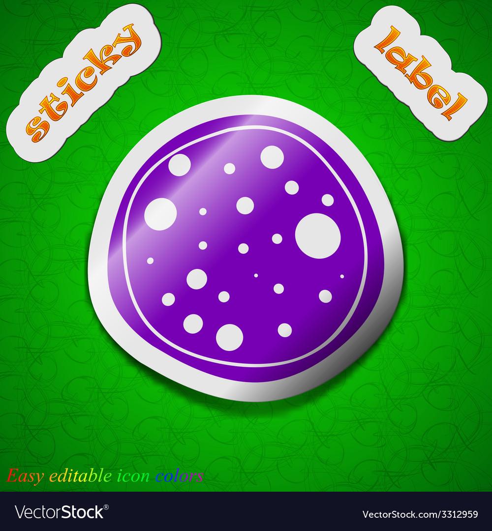 Pizza icon sign symbol chic colored sticky label vector | Price: 1 Credit (USD $1)