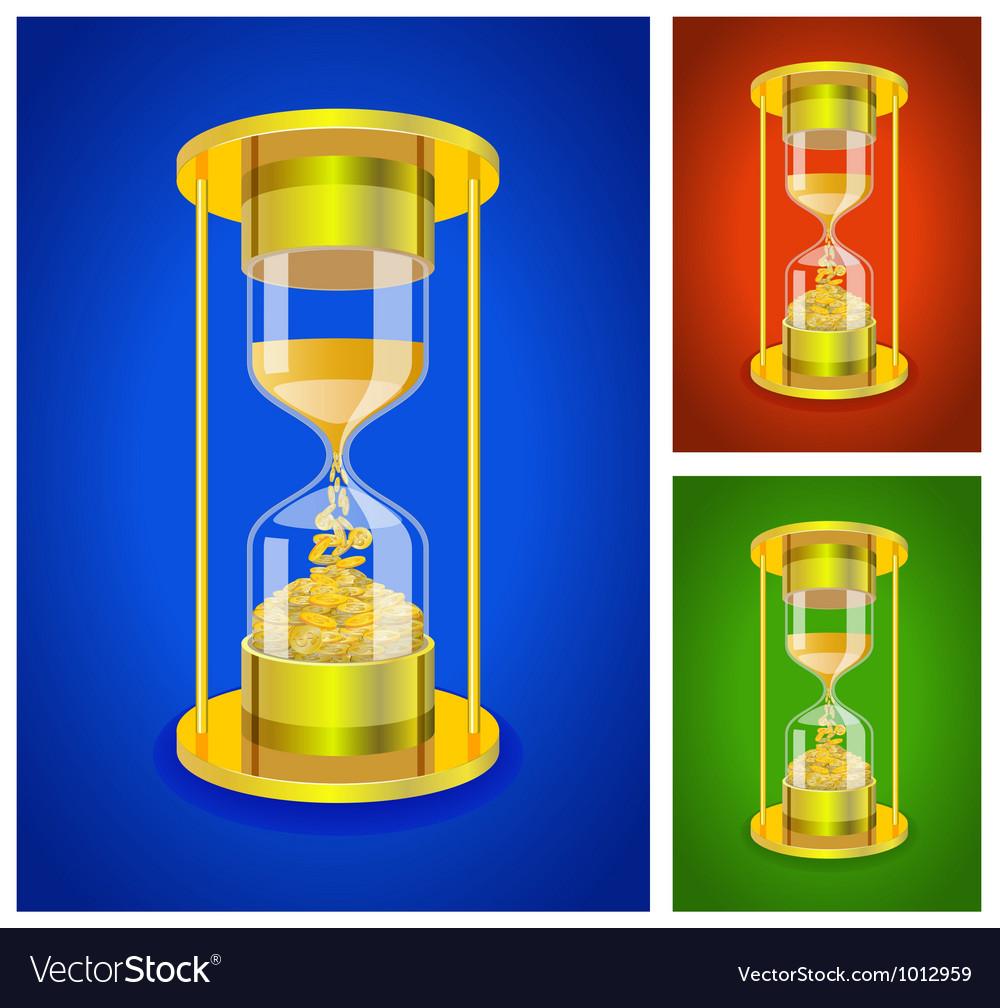 Sandglass set vector | Price: 1 Credit (USD $1)