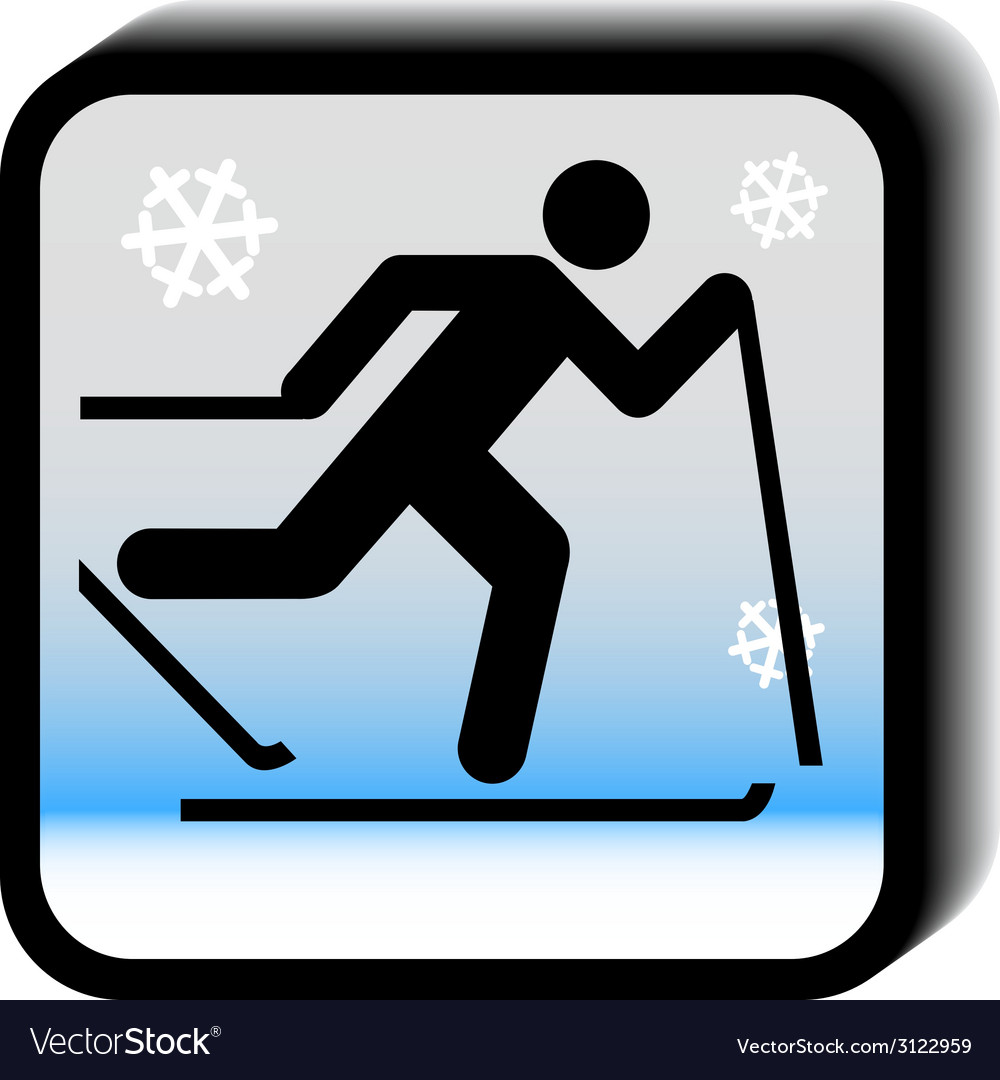 Winter icon - running vector | Price: 1 Credit (USD $1)