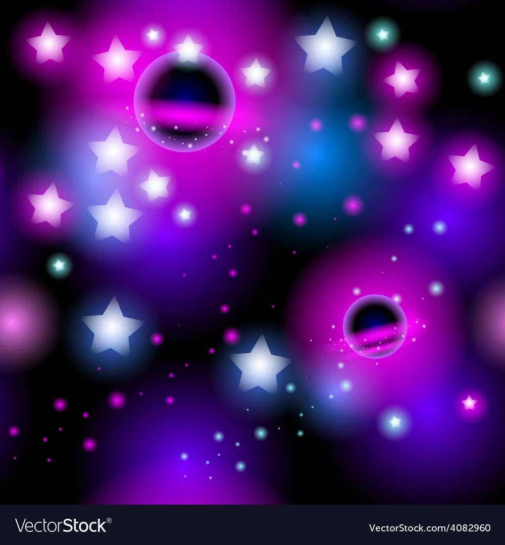 Abstract seamless pattern space with stars vector | Price: 1 Credit (USD $1)