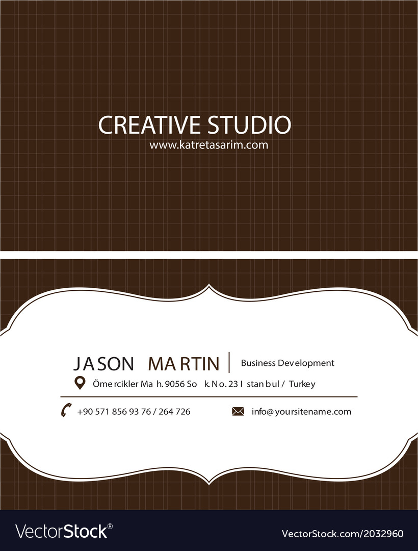 Brown creative business card vector | Price: 1 Credit (USD $1)