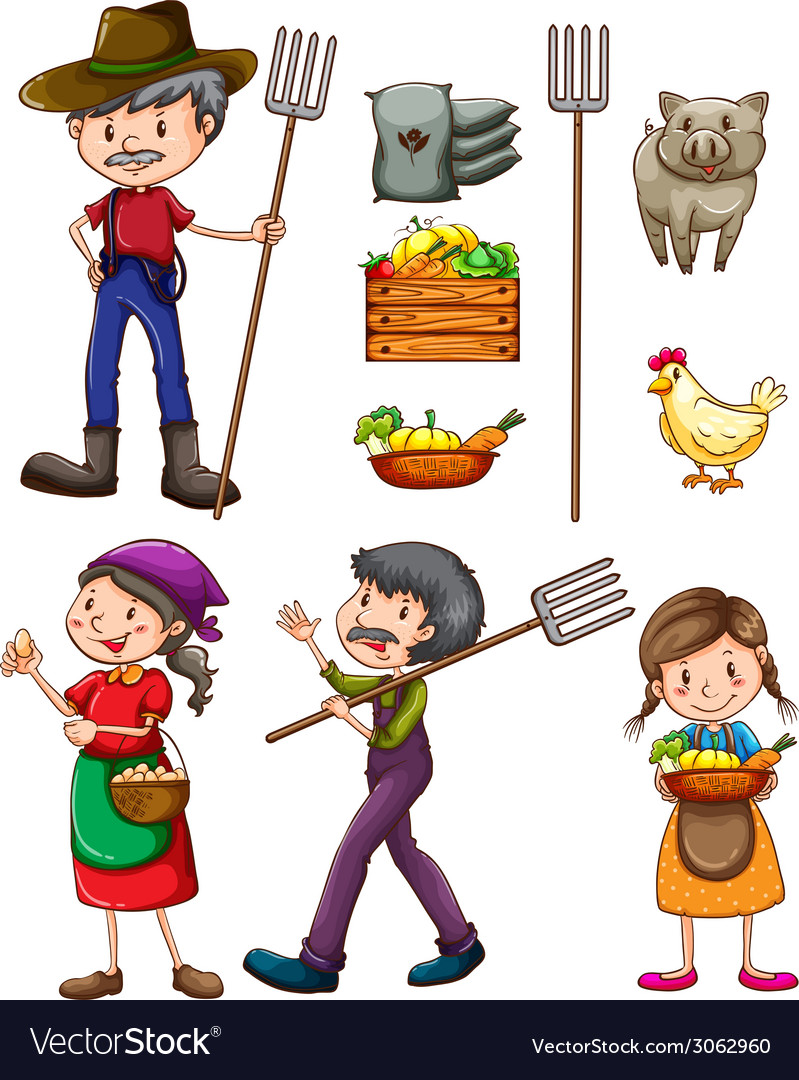 Farmers vector | Price: 1 Credit (USD $1)