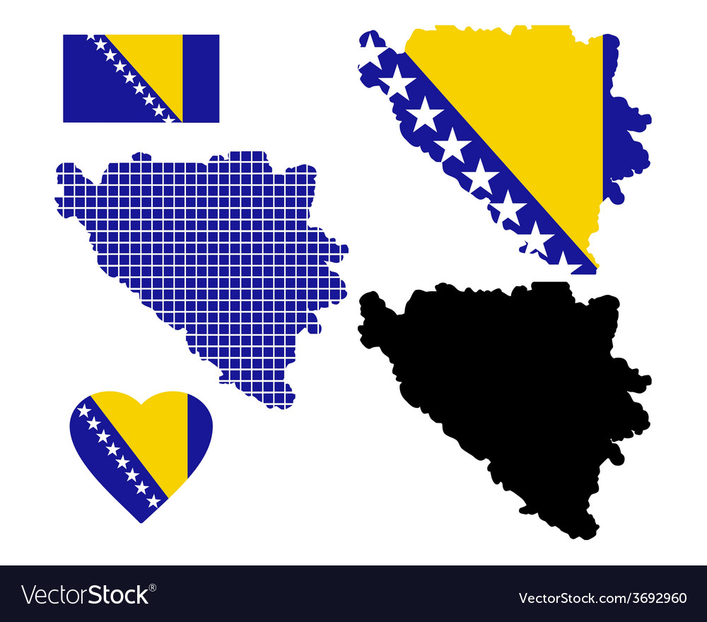 Map bosnia vector | Price: 1 Credit (USD $1)