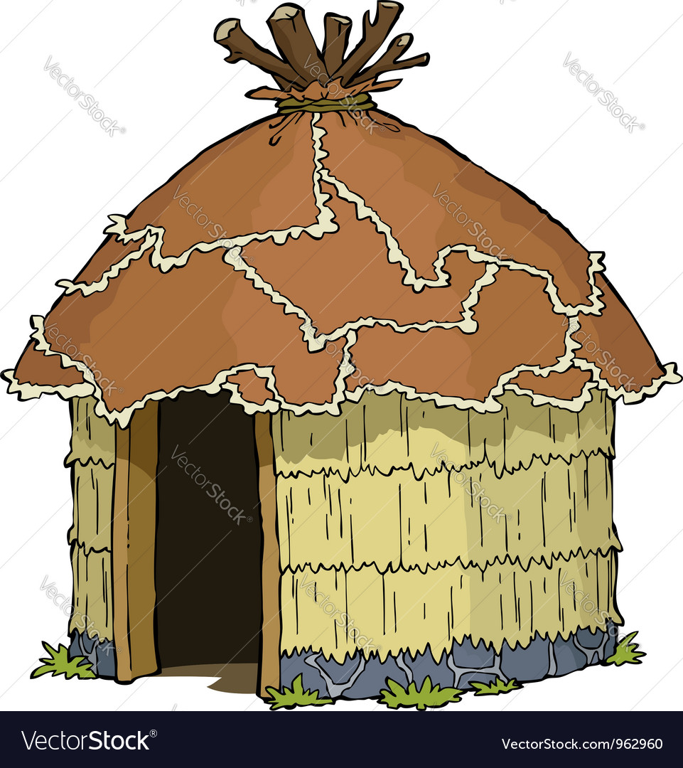 Native hut vector | Price: 1 Credit (USD $1)