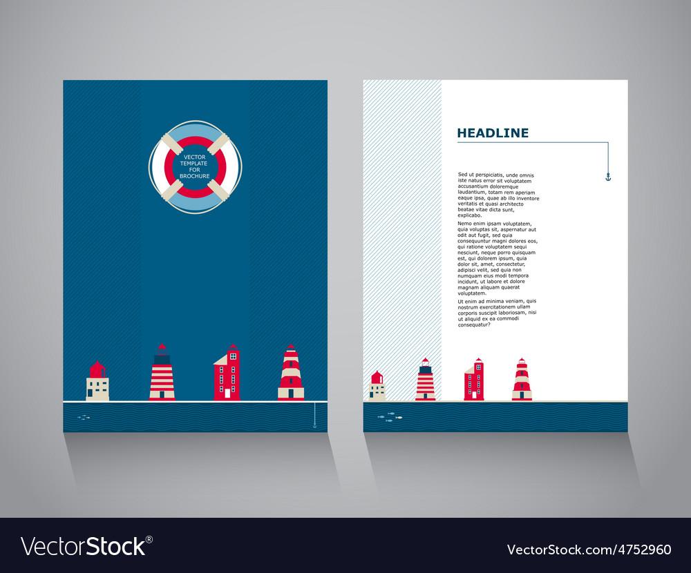 Nordic brochure template vector | Price: 1 Credit (USD $1)