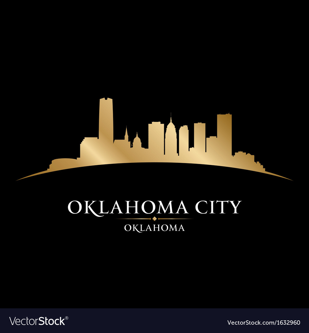 Oklahoma city skyline silhouette vector | Price: 1 Credit (USD $1)