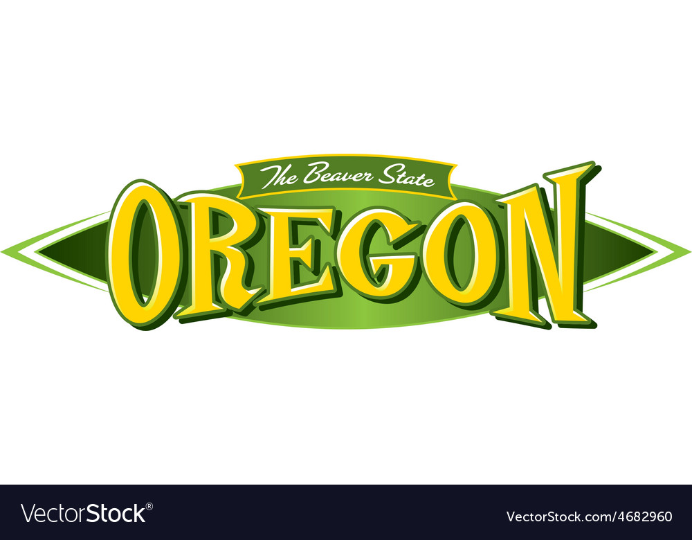 Oregon the beaver state vector | Price: 1 Credit (USD $1)