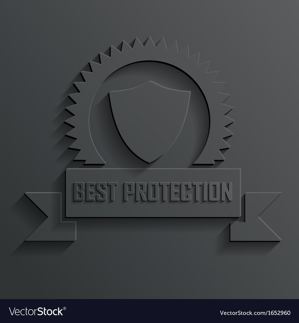 Shield and ribbon vector | Price: 1 Credit (USD $1)