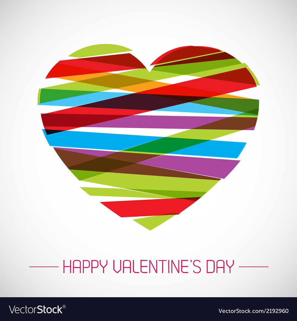 Valentine card with heart vector | Price: 1 Credit (USD $1)