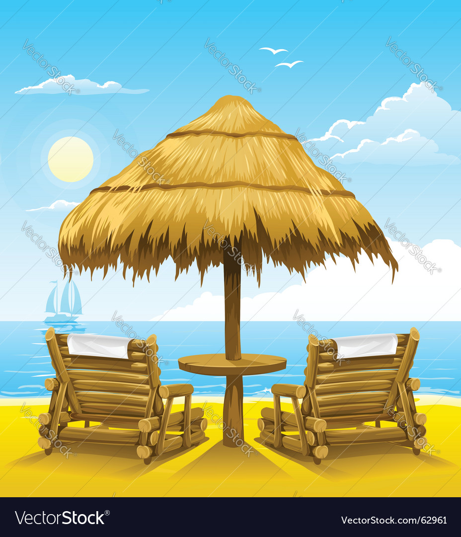 Beach chairs vector | Price: 3 Credit (USD $3)