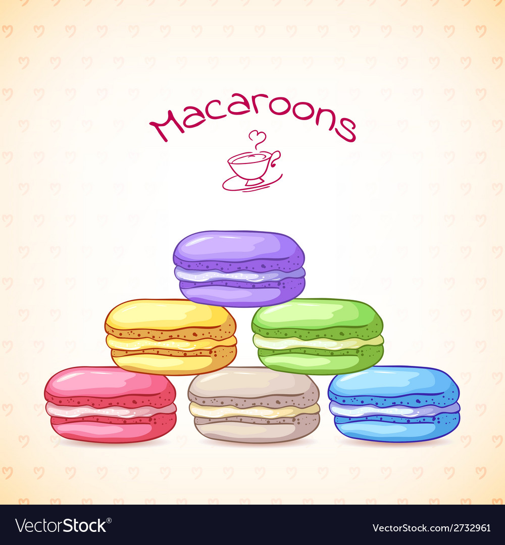 Beautiful of a french dessert macaroons vector | Price: 1 Credit (USD $1)