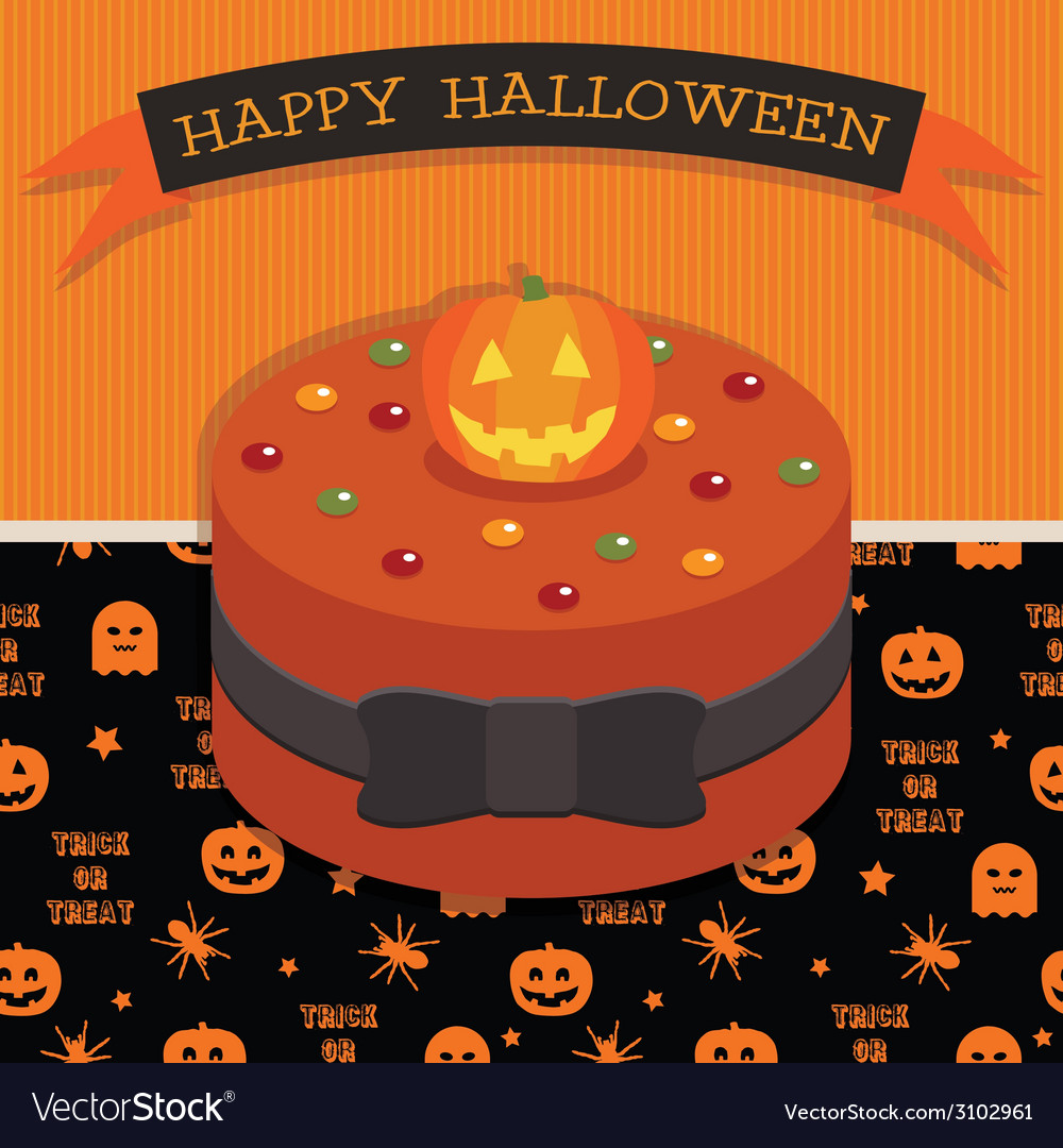 Halloween cake vector | Price: 1 Credit (USD $1)