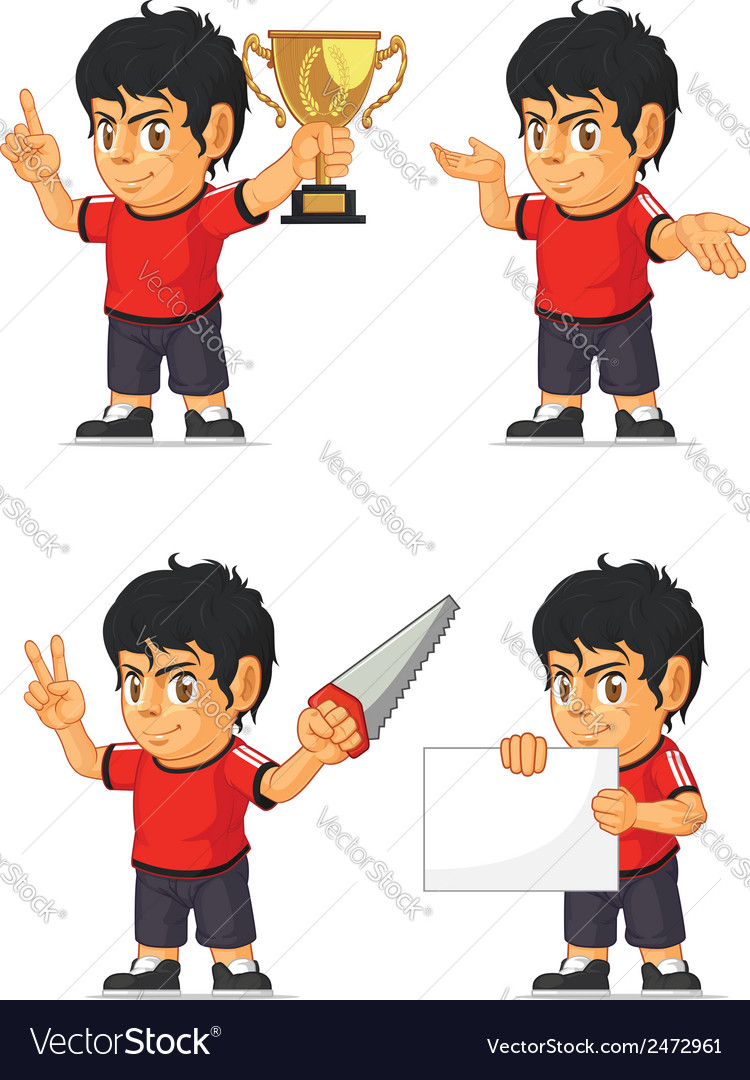 Soccer boy customizable mascot 4 vector | Price: 1 Credit (USD $1)