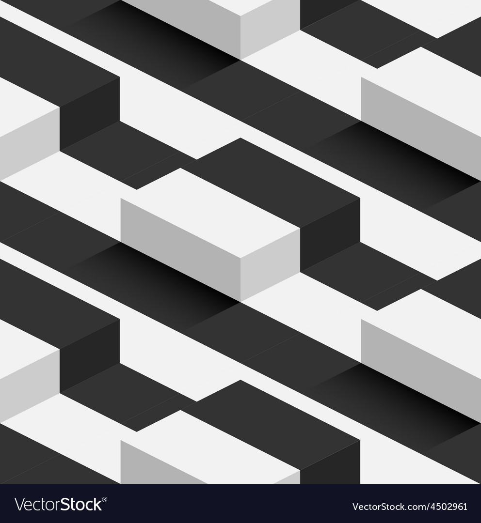 Striped 3d square hills seamless pattern vector | Price: 1 Credit (USD $1)