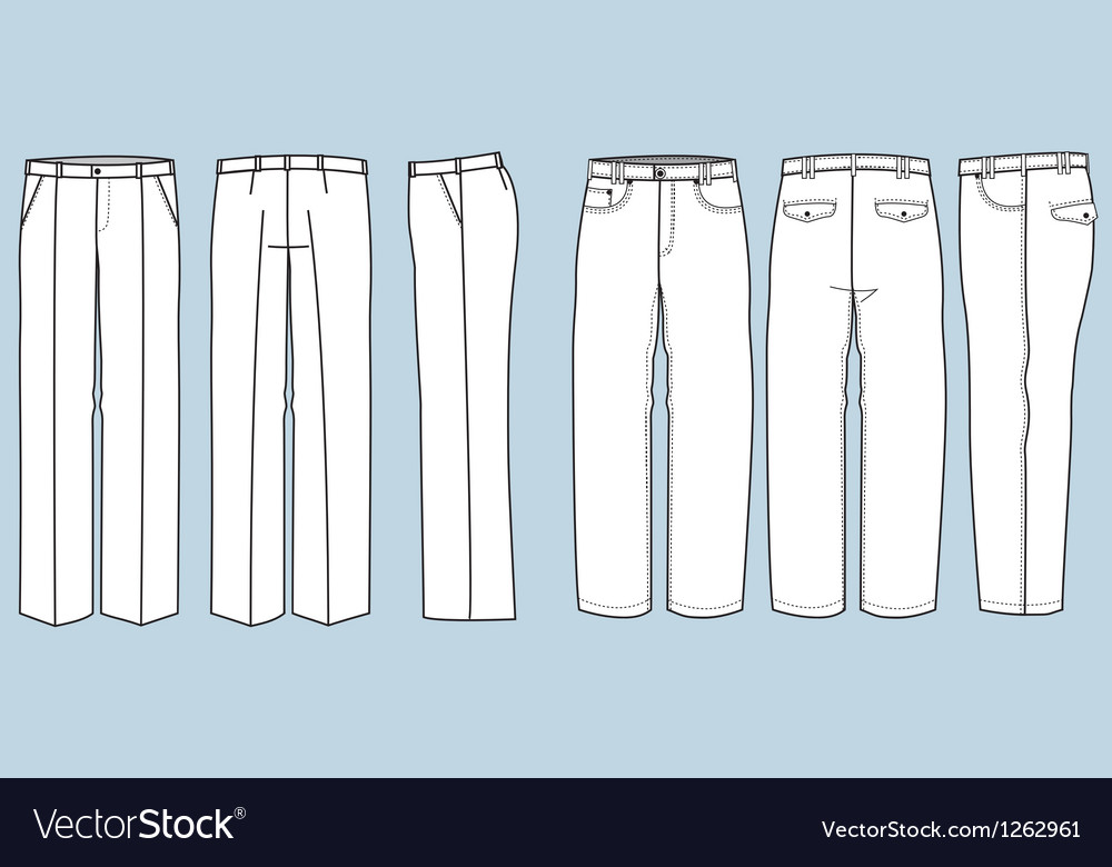 Trousers for men vector | Price: 1 Credit (USD $1)
