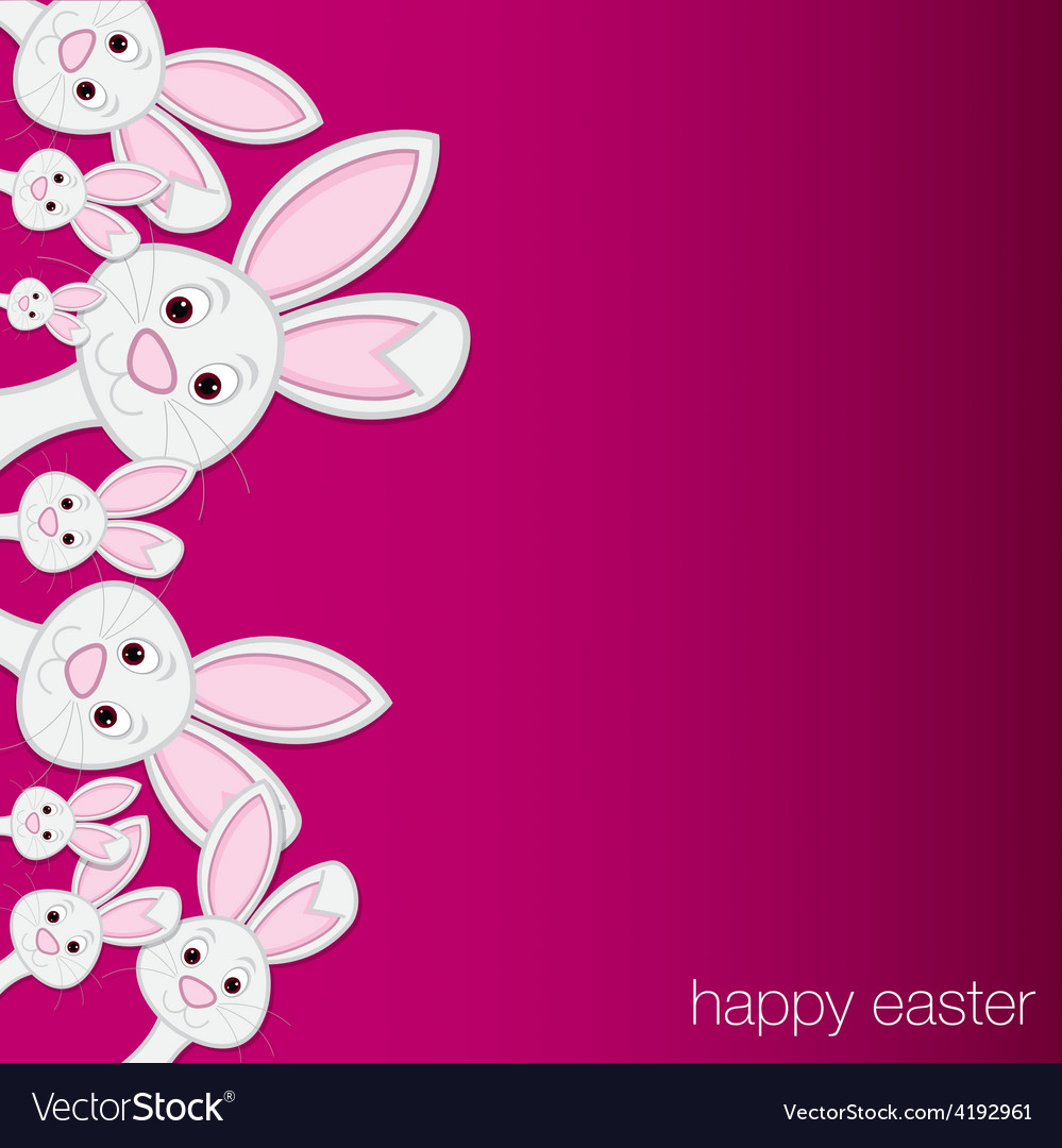 White easter bunny card in format vector | Price: 1 Credit (USD $1)