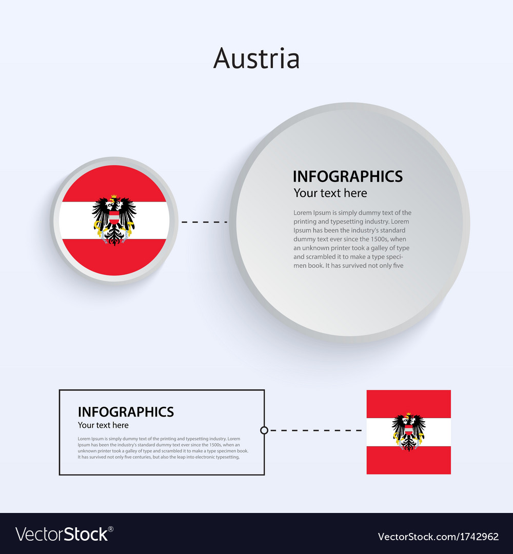 Austria country set of banners vector | Price: 1 Credit (USD $1)