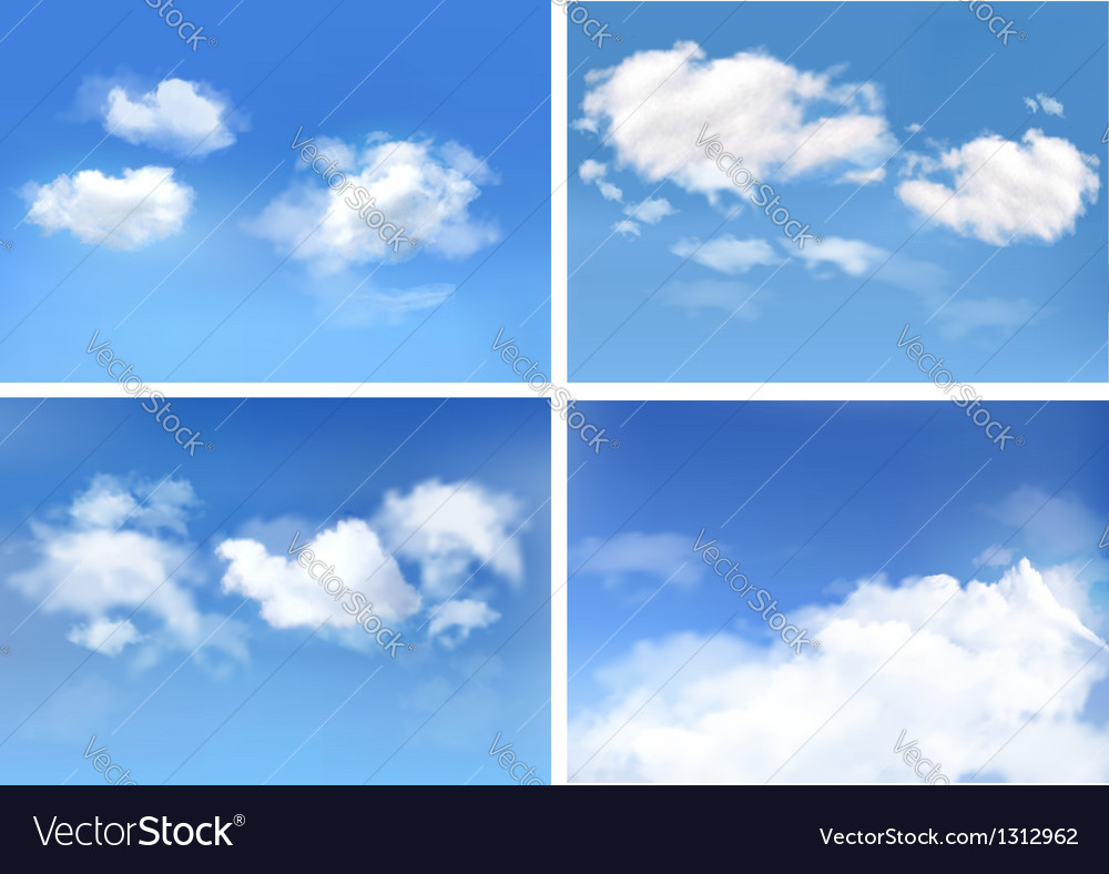 Blue sky with clouds backgrounds vector | Price: 1 Credit (USD $1)