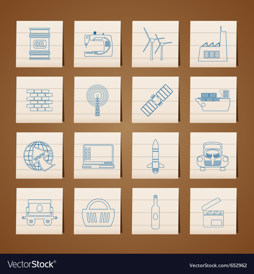 Business and industry icons vector   Price: 1 Credit (USD $1)