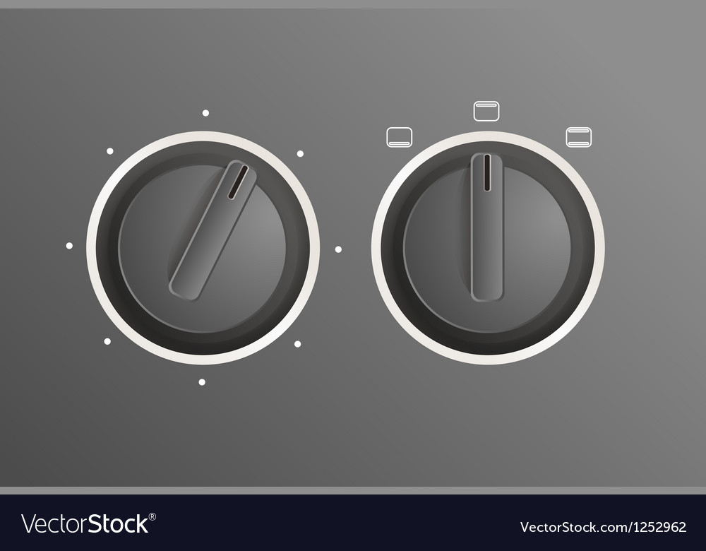 Cooker controls vector | Price: 1 Credit (USD $1)
