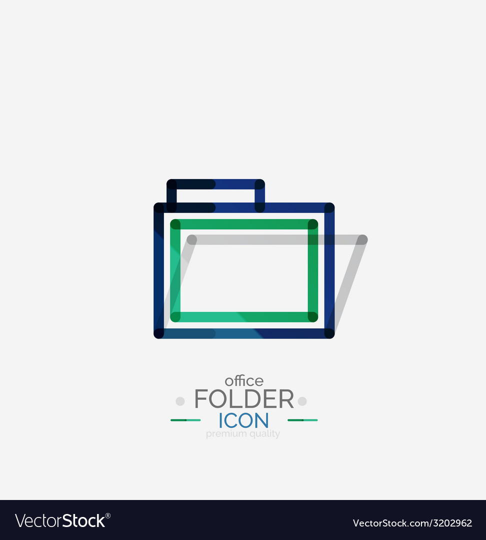 Folder logo stamp accounting binder vector | Price: 1 Credit (USD $1)