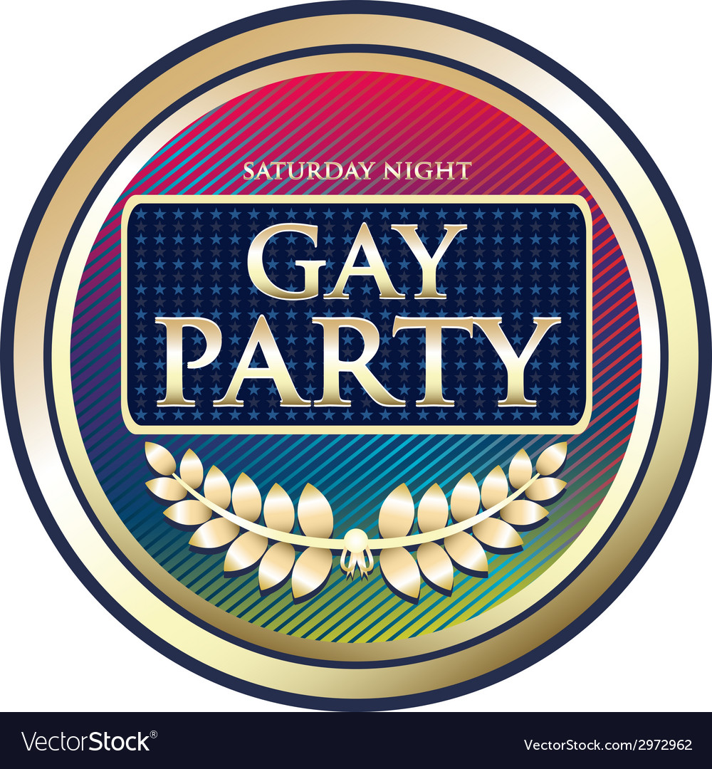 Gay party label vector | Price: 1 Credit (USD $1)
