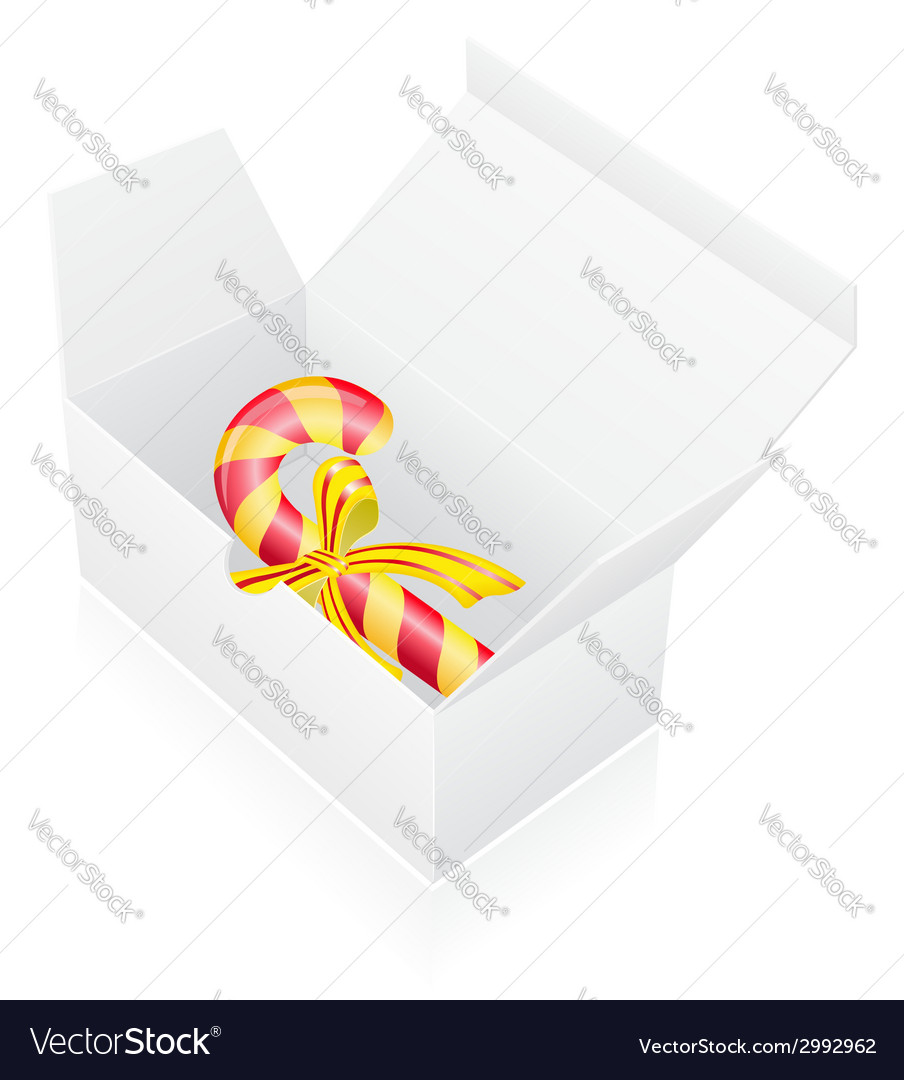 New year packing box with candy vector | Price: 1 Credit (USD $1)