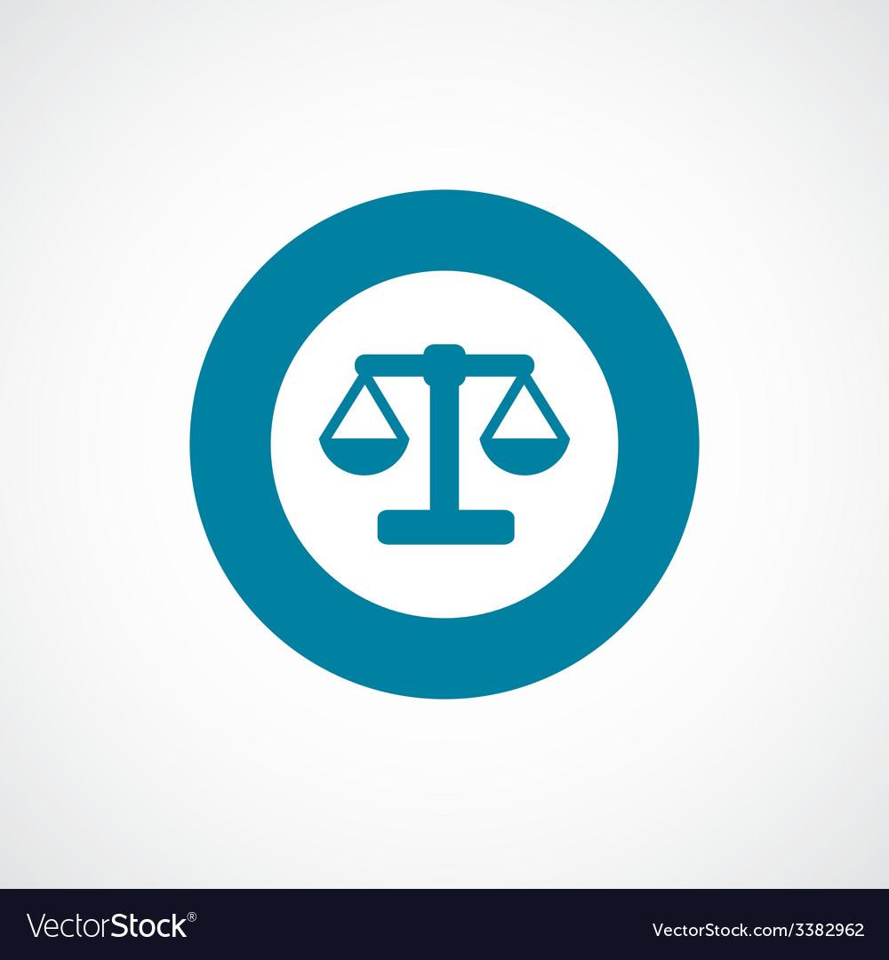 Scales bold blue border circle icon vector   Price: 1 Credit (USD $1)