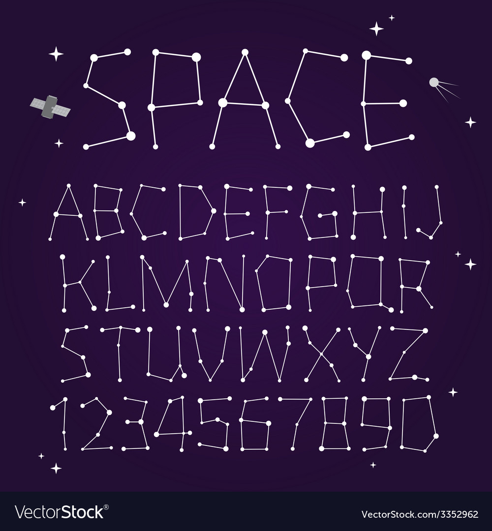 Space font vector | Price: 1 Credit (USD $1)