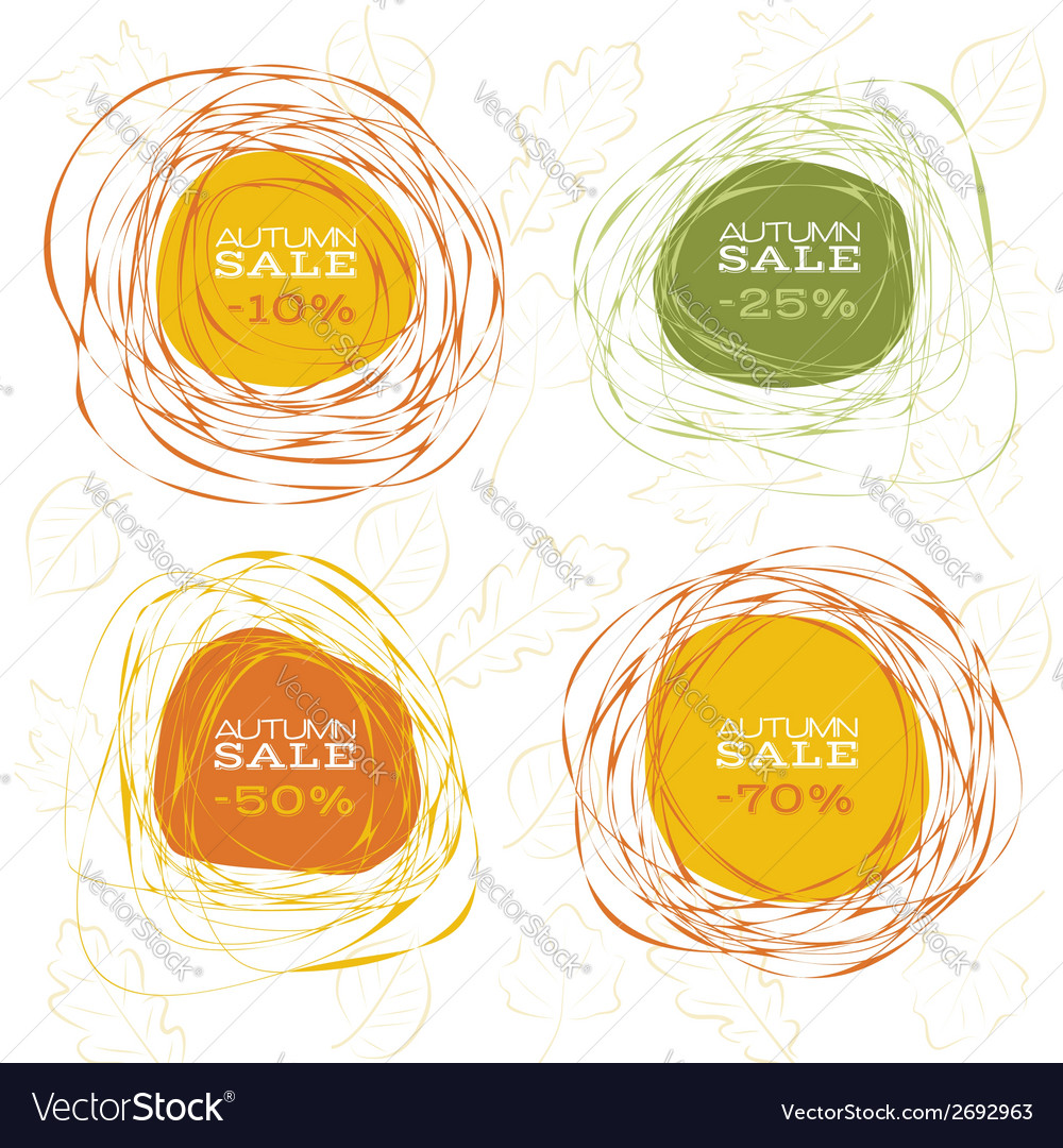 Autumn sale abstract frames vector | Price: 1 Credit (USD $1)