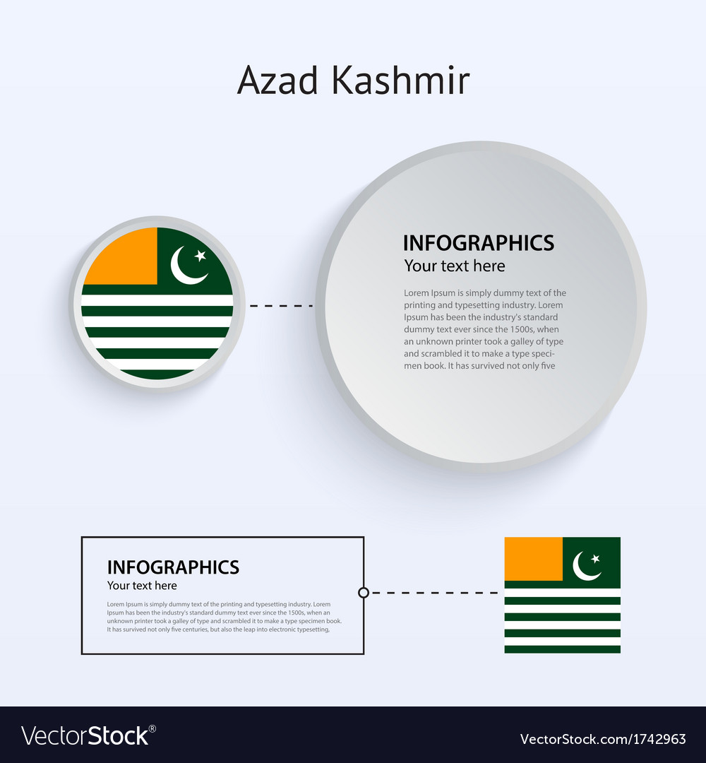 Azad kashmir country set of banners vector | Price: 1 Credit (USD $1)