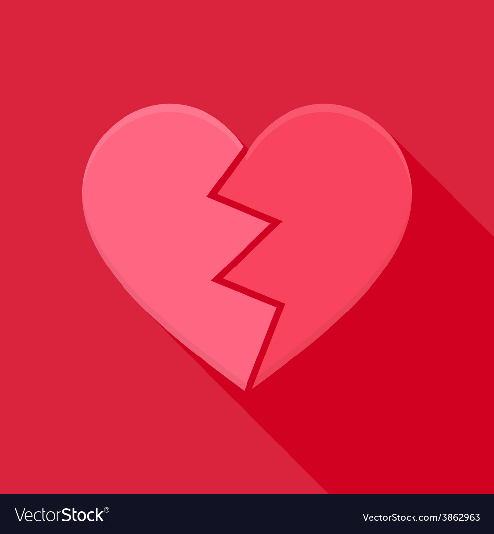 Broken heart vector | Price: 1 Credit (USD $1)