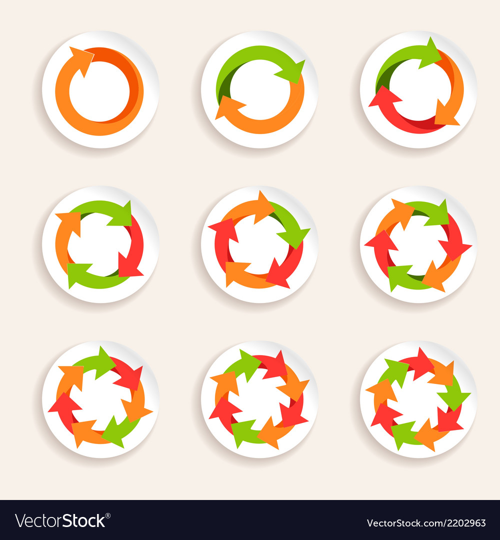 Circle arrow icon vector | Price: 1 Credit (USD $1)