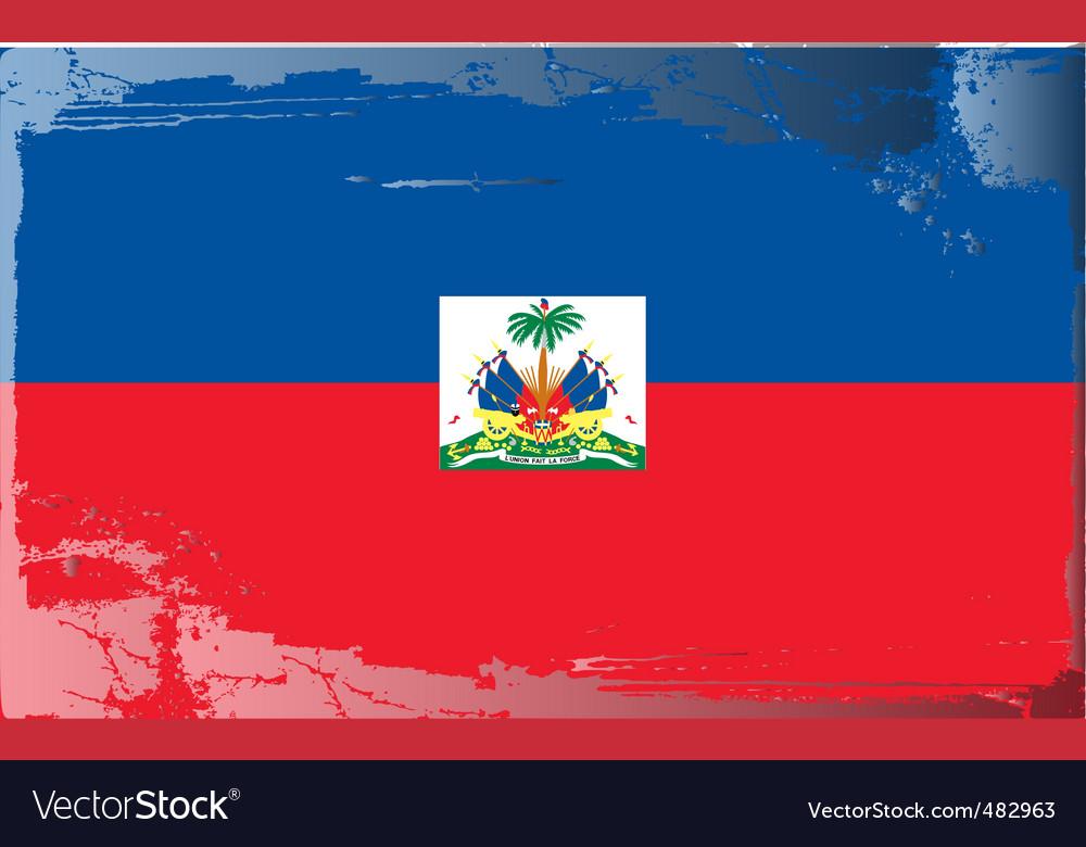 Haiti national flag vector | Price: 1 Credit (USD $1)