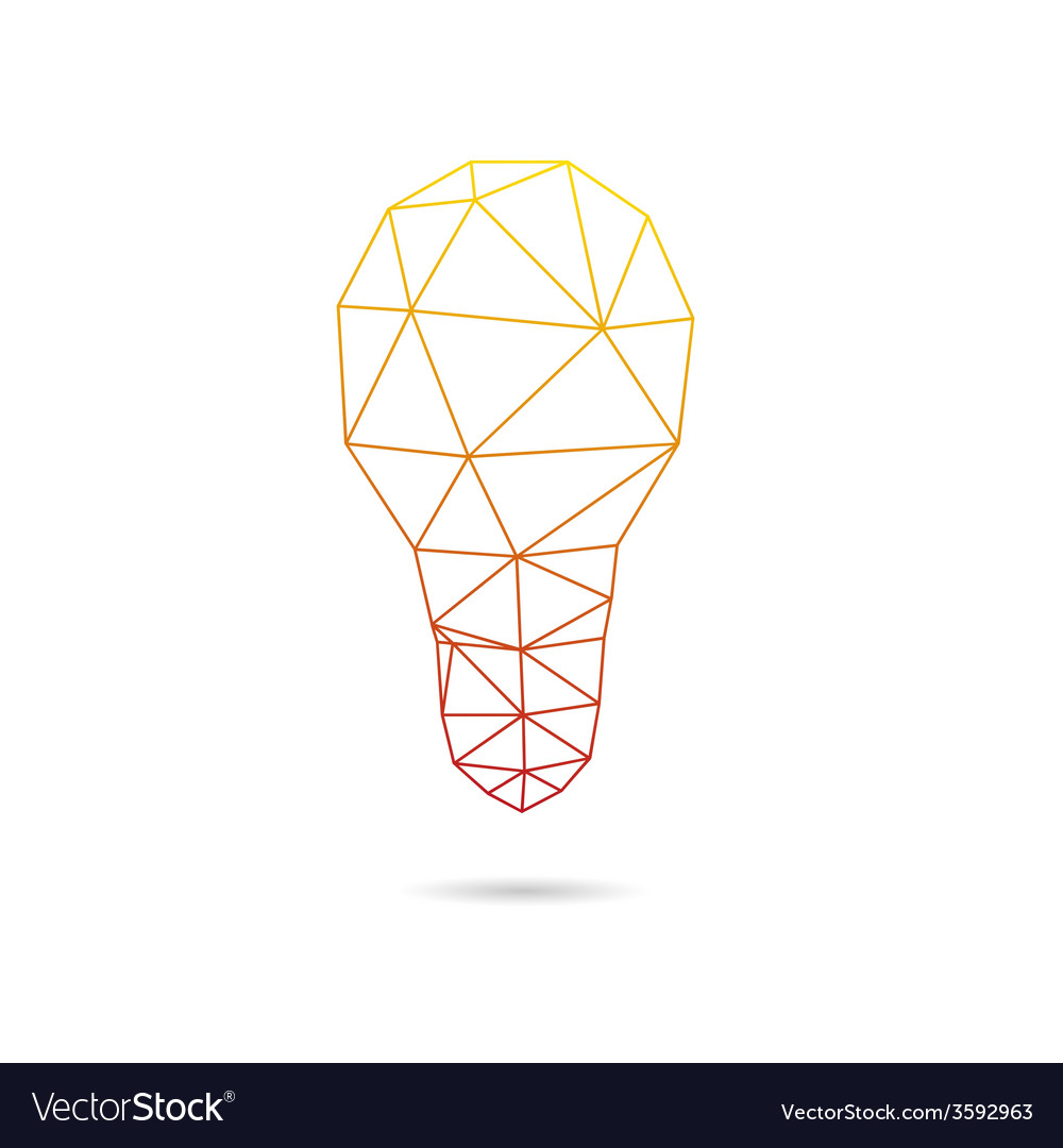 Lightbulb abstract isolated vector | Price: 1 Credit (USD $1)
