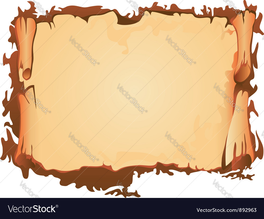Scroll of old parchment vector | Price: 1 Credit (USD $1)