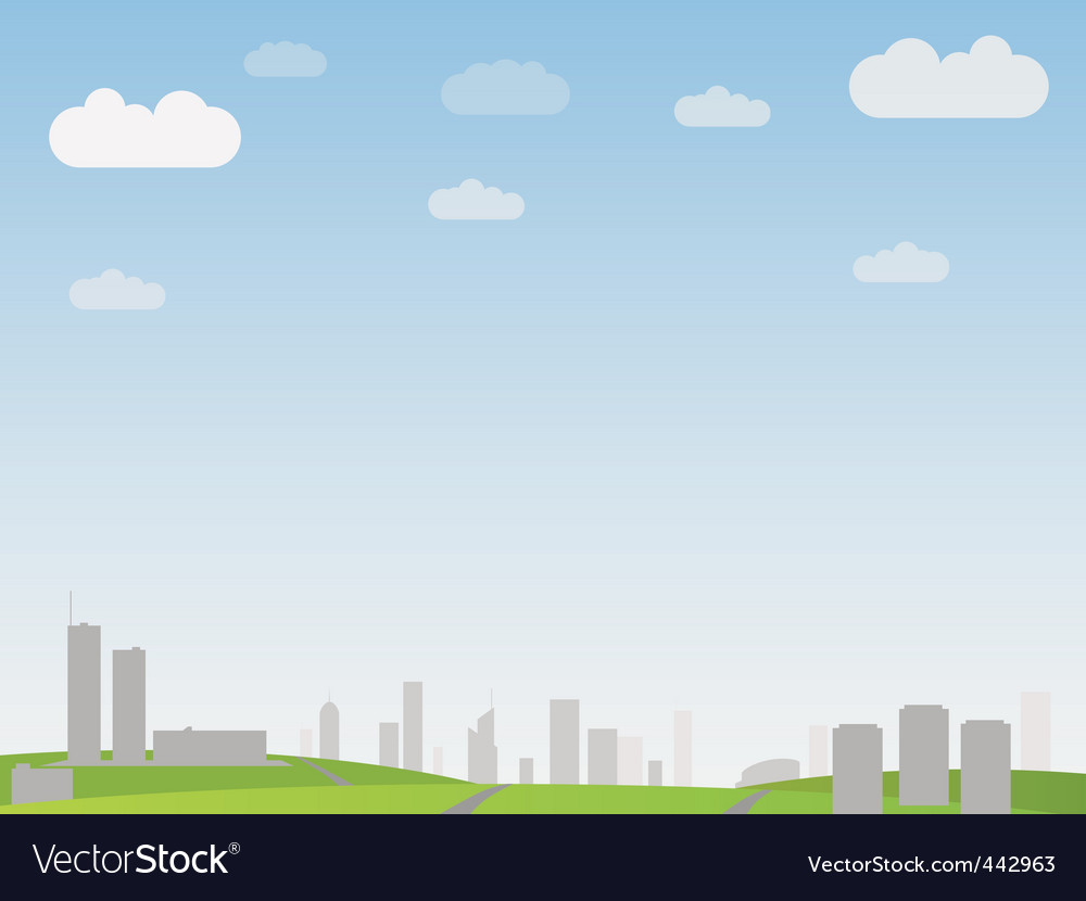 Simple city landscape vector | Price: 1 Credit (USD $1)