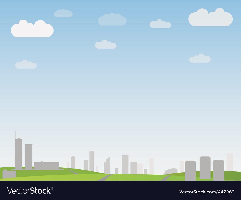 Simple city landscape vector | Price: 1 Credit (USD $1)