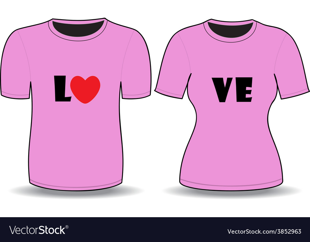 T shirt pink template vector | Price: 1 Credit (USD $1)