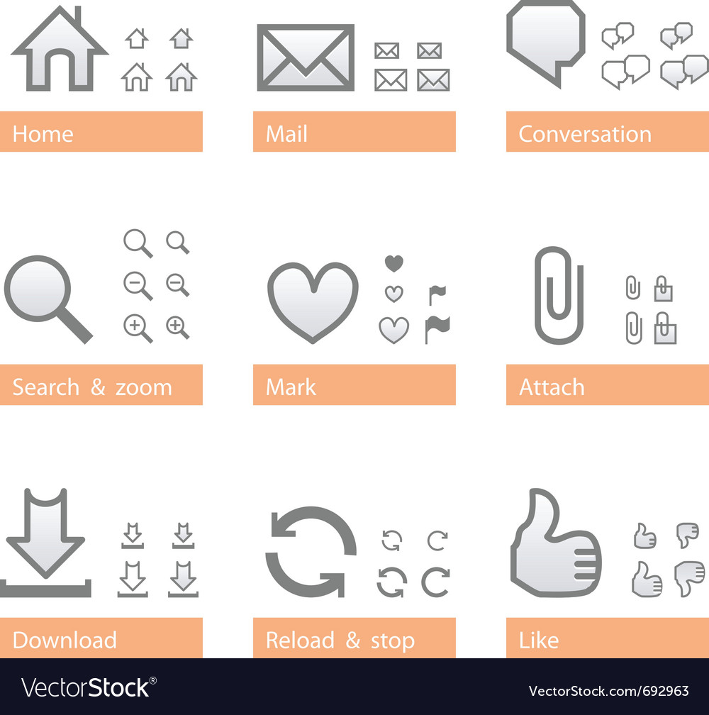 Universal software icon set web part vector | Price: 1 Credit (USD $1)