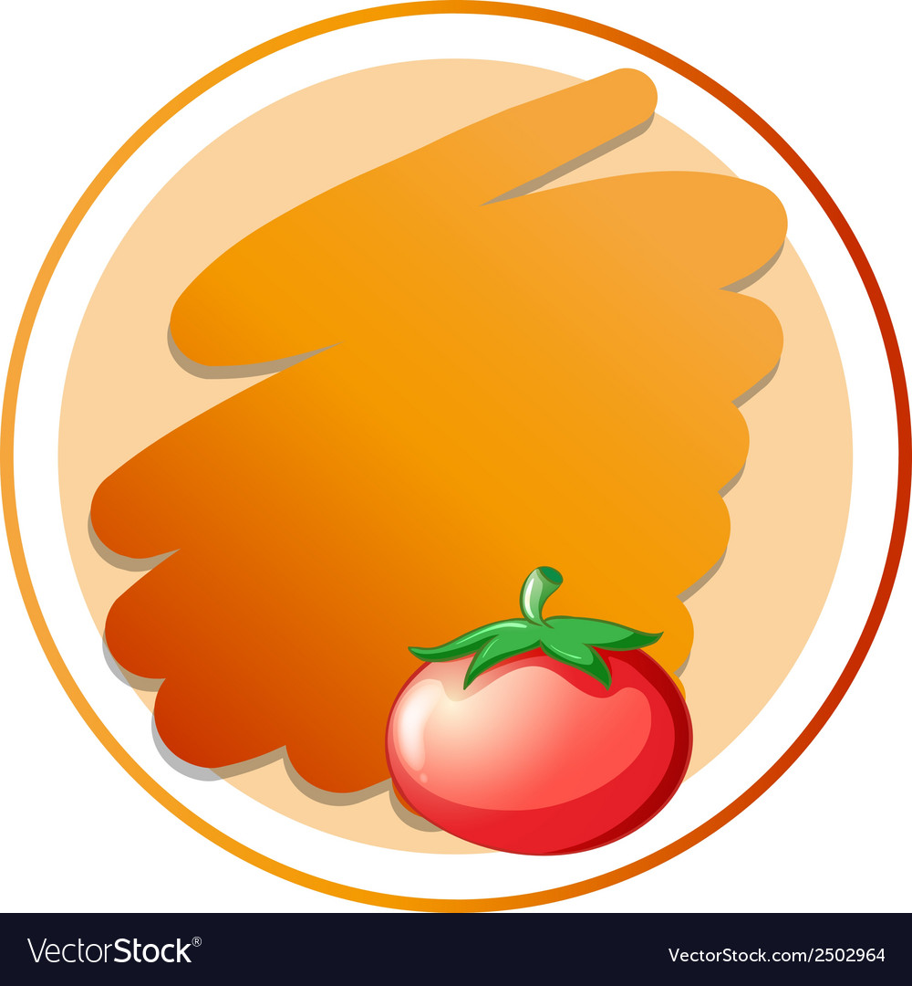 A round orange template vector   Price: 1 Credit (USD $1)