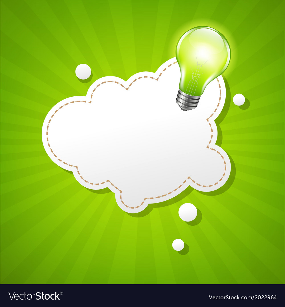 Burst tposter with speech bubble and bulb vector | Price: 1 Credit (USD $1)
