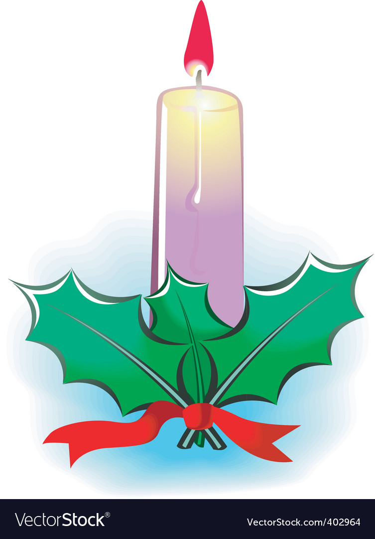 Candle light and leaf vector | Price: 1 Credit (USD $1)