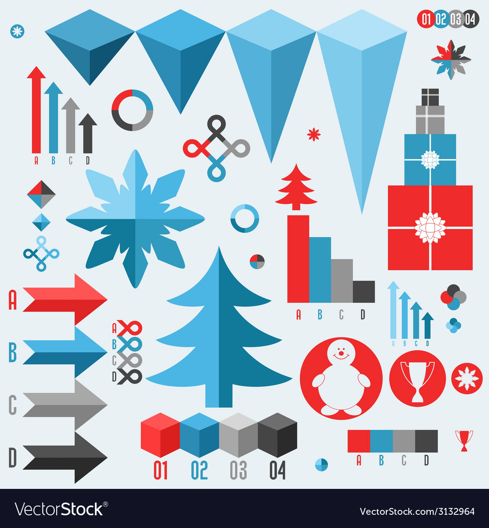 Christmas set of infographics elements vector   Price: 1 Credit (USD $1)